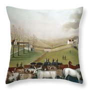 Hicks: Cornell Farm, 1848 Throw Pillow by Granger