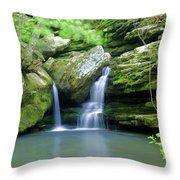 Hidden Falls 2 Throw Pillow by Marty Koch