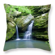 Hidden Falls 2 Throw Pillow by Marty Koch