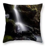 Hidden Falls Throw Pillow by Mike  Dawson