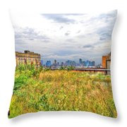 High Line On The Hudson Throw Pillow by Randy Aveille