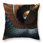 Highland Lighthouse Stairs Cape Cod Throw Pillow by Matt Suess