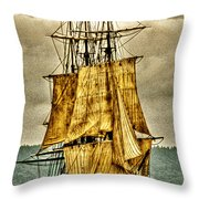 Hms Bounty Throw Pillow by David Patterson
