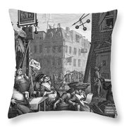 HOGARTH: BEER STREET Throw Pillow by Granger