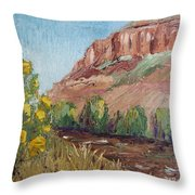 Hogback In Early Fall At Watson Lake Throw Pillow by Margaret Bobb