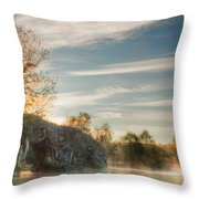 Hole In The Rock Throw Pillow by Evgeni Dinev