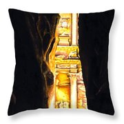 Homage to Petra Throw Pillow by Richard Young