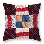 Homemade Quilt Throw Pillow by Christopher Holmes