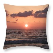 Honey Moon Island Sunset Throw Pillow by Bill Cannon