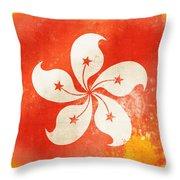 Hong Kong China Flag Throw Pillow by Setsiri Silapasuwanchai