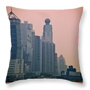 Hong Kong Island Throw Pillow by Ray Laskowitz - Printscapes