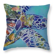 Honu Throw Pillow by Marionette Taboniar