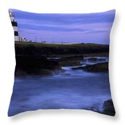 Hook Head Lighthouse, Co Wexford Throw Pillow by The Irish Image Collection
