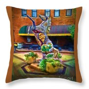 Horse Of Another Color Throw Pillow by Jon Burch Photography