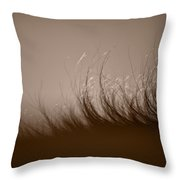 Horses Mane Throw Pillow by Steve Gadomski