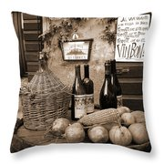 Hostaria Alla Rocca Throw Pillow by Donna Corless