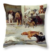 Hot Pursuit Throw Pillow by William Henry Hamilton Trood
