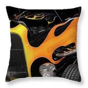 Hot Rod Throw Pillow by Oleksiy Maksymenko