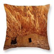 House on Fire Ruins Throw Pillow by Melany Sarafis