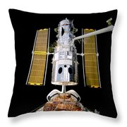 Hubble Telescope Redeployment Throw Pillow by The  Vault - Jennifer Rondinelli Reilly