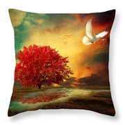 Hued Throw Pillow by Lourry Legarde