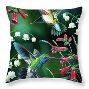 Humming Birds 2 Throw Pillow by JQ Licensing