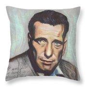 Humphrey Bogart  Not A Chess Piece Was Out Of Place Throw Pillow by Kean Butterfield