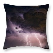 Hwy 52 - Hwy 287 Lightning Storm Image 29 Throw Pillow by James BO  Insogna