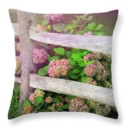 Hydrangeas Throw Pillow by JAMART Photography