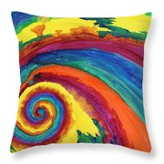 Hypnotic Swirl Throw Pillow by Shawna Elliott