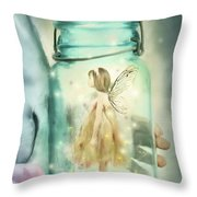 I Believe Throw Pillow by Stephanie Frey