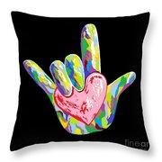 I Heart You Throw Pillow by Eloise Schneider
