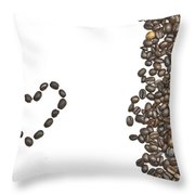 I Love Coffee Throw Pillow by Joana Kruse