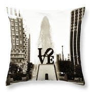 I Love Philadelphia Throw Pillow by Bill Cannon