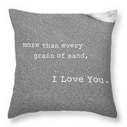 I Love You Throw Pillow by Rheann Earnest