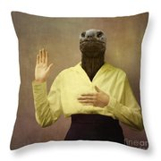 I swear I won't do botox anymore Throw Pillow by Martine Roch
