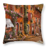 Il Bar Sulla Discesa Throw Pillow by Guido Borelli
