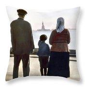 IMMIGRANTS: ELLIS ISLAND Throw Pillow by Granger