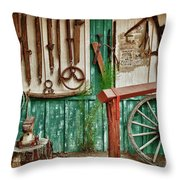 In Another Time Throw Pillow by Sandra Bronstein