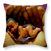In Good Hands Throw Pillow by Michael Durst