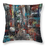 In The City Throw Pillow by Frances Marino