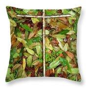 In The Fall Throw Pillow by Deborah Montana