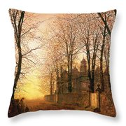 In the Golden Olden Time Throw Pillow by John Atkinson Grimshaw