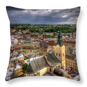 In The Heart Of The City Throw Pillow by Evelina Kremsdorf