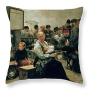 In The Land Of Promise Throw Pillow by Charles Frederic Ulrich
