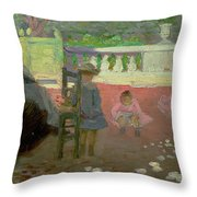 In The Luxembourg Gardens  Throw Pillow by Henri Edmond Cross