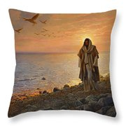 In the World Not of the World Throw Pillow by Greg Olsen