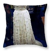 Inaugural Gown On Display Throw Pillow by LeeAnn McLaneGoetz McLaneGoetzStudioLLCcom
