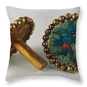 Inca Earrings Throw Pillow by Granger
