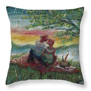 Independance Day Pignic Throw Pillow by Nadine Rippelmeyer